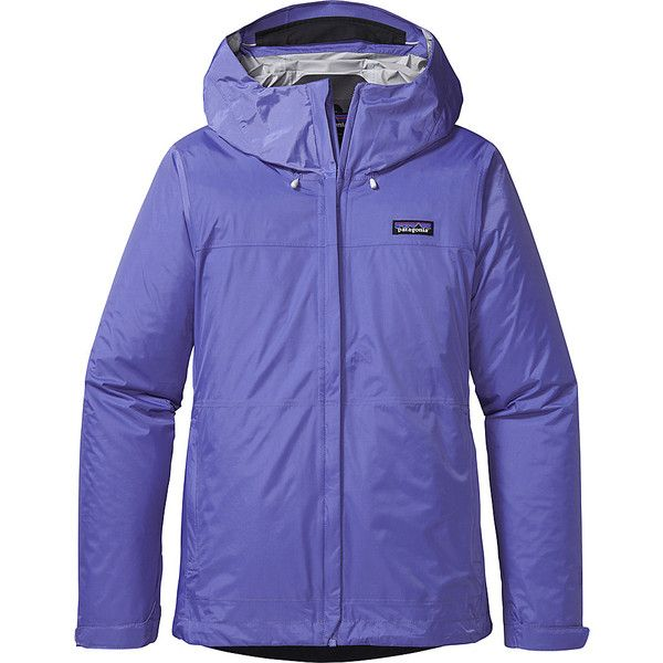 Patagonia Womens Torrentshell Jacket (190 NZD) ❤ liked on Polyvore featuring activewear, activewear jackets, purple, patagonia and patagonia sportswear