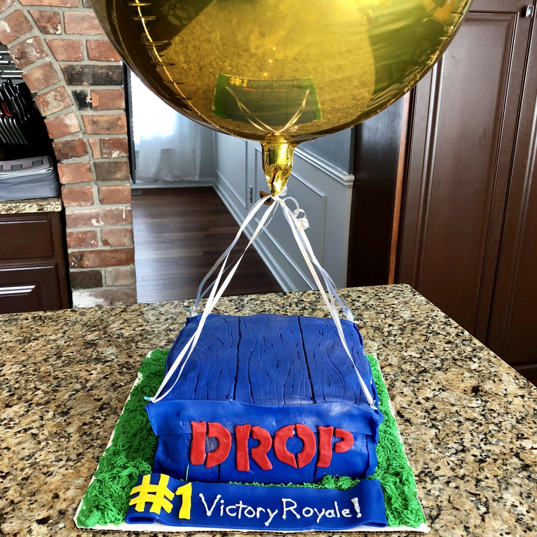Fortnite Supply Drop Cake Brady Birthday Birthday