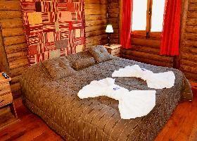 cabaña grande habitacion principal Cabañas en Mar Azul Costa Atlántica