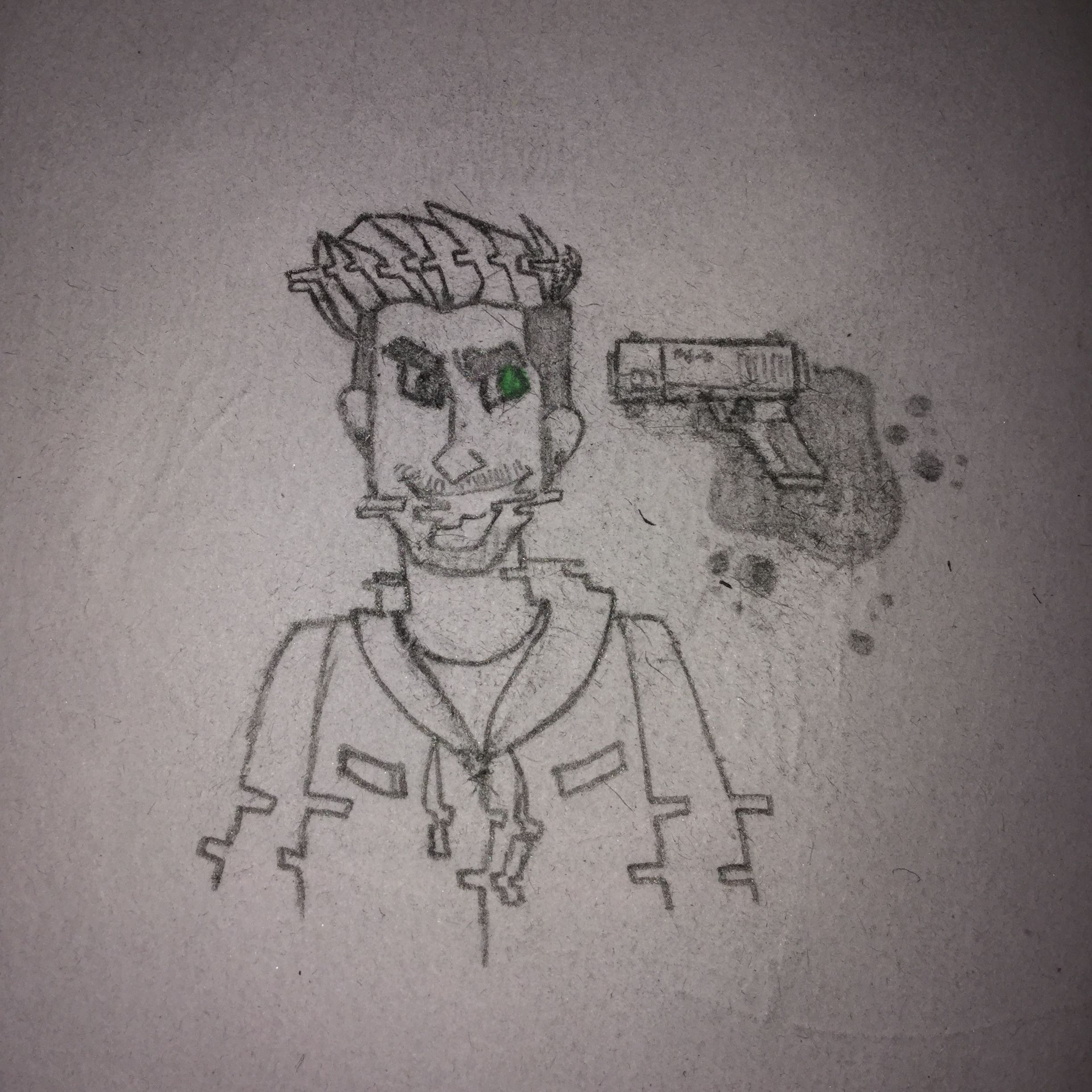 AntiSepticEye glitching out. Yes I did draw this with my own design/idea but this type/style is not mine. THX LOVIES XD