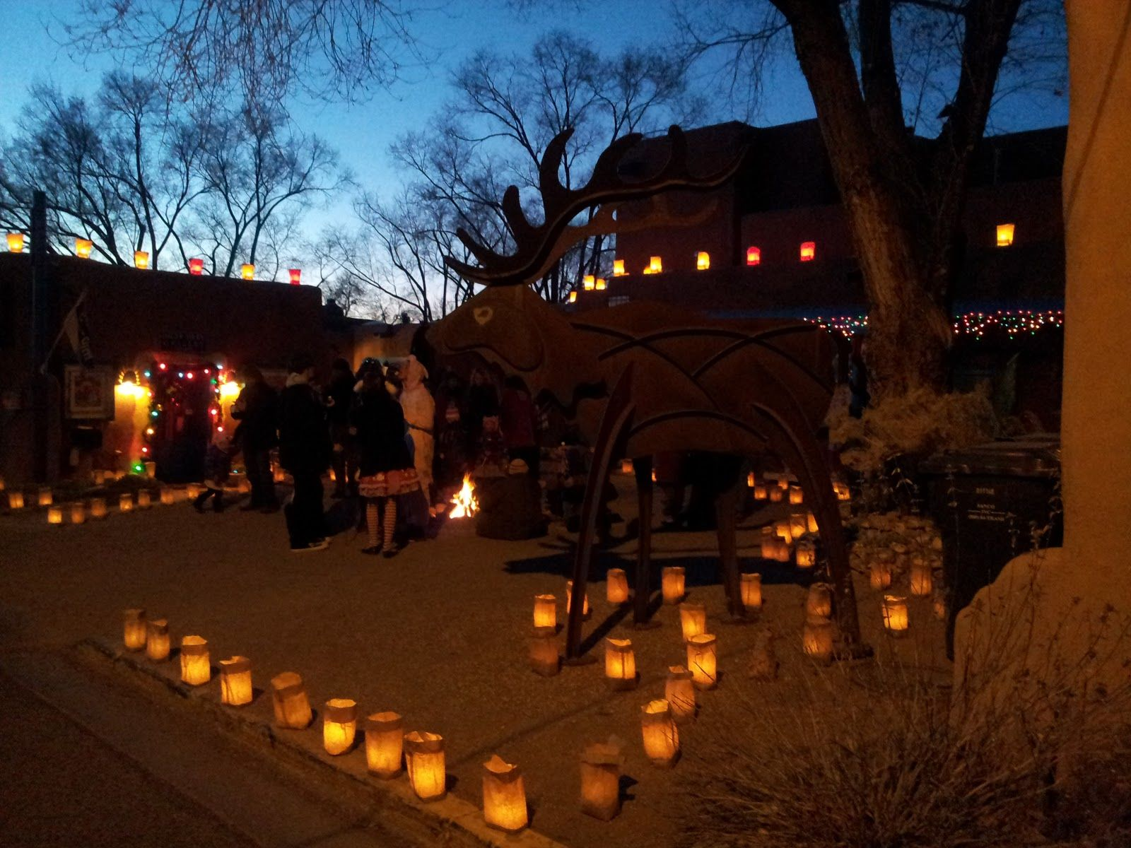 Lighting Of Ledoux Street Taos New