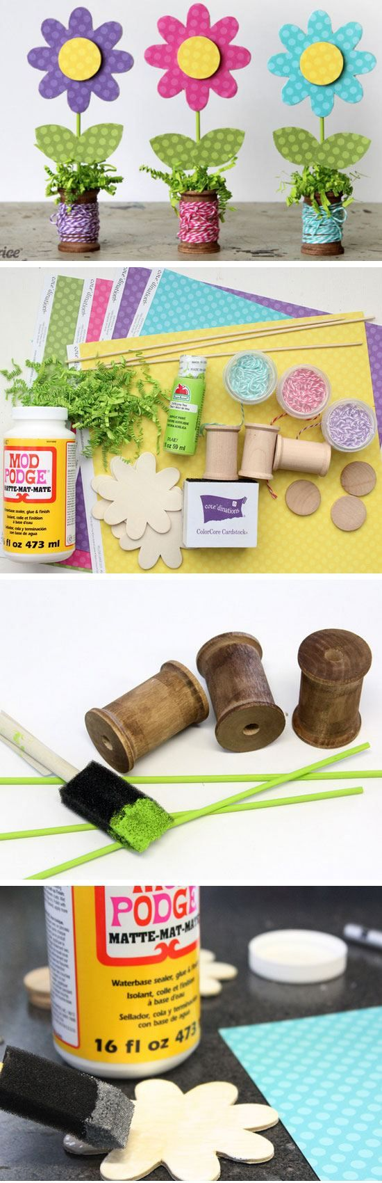 19 awesome diy mothers day crafts for kids to make | wooden spools