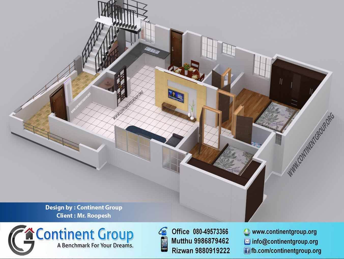 50 Two 2 Bedroom Apartment House Plans Small House Plans Small House Design Apartment Layout