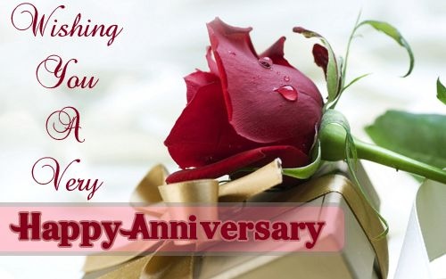 Best wishes for wedding anniversary sms gift rose card