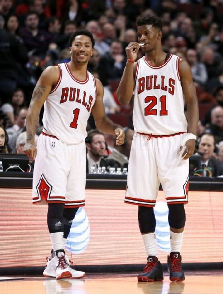 09860f188bc8 Derrick Rose and Jimmy Butler