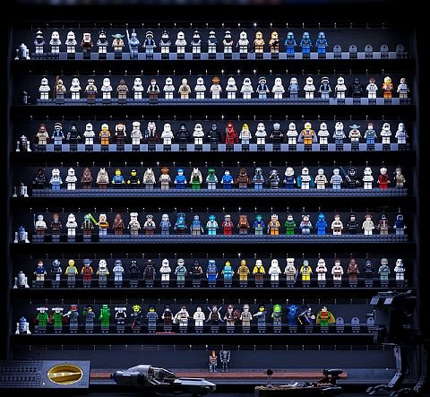 Lego Minifigure Display Case Frame Star Wars classic