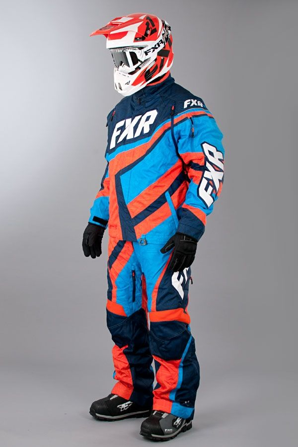 Vaatteet FXR Cold Cross X-System Sininen-Oranssi - Nopea toimitus - Sledstore