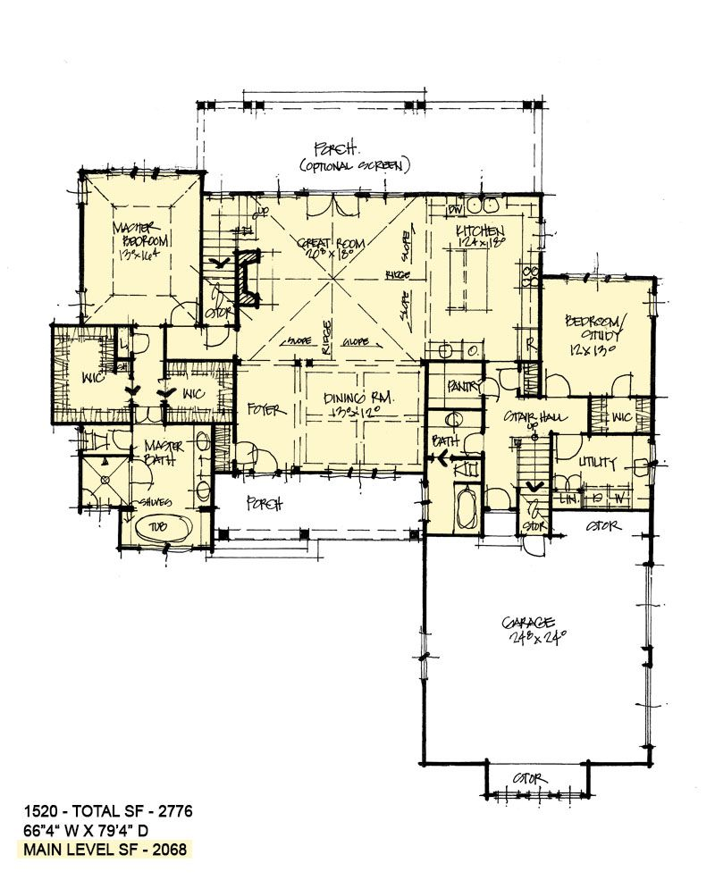 House Plan 1520 Two Story Craftsman House Plans House Plans Farmhouse How To Plan
