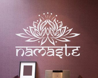 Lotus Flower Wall Art mandala wall decal vinyl stickers yoga decals lotus flower india