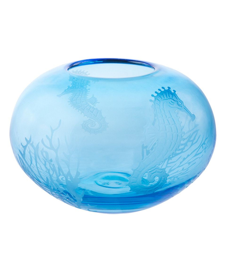 Take a look at this Round Etched Seahorse Vase today!