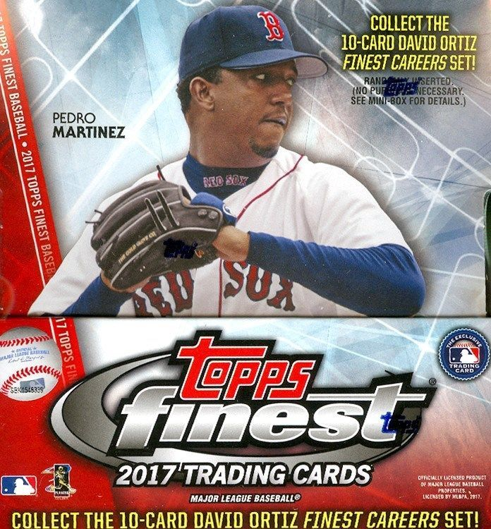 b2baac40 2017 TOPPS FINEST BASEBALL HOBBY 8 BOX CASE BLOWOUT CARDS #BaseballCards