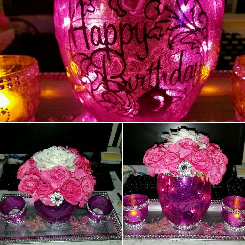 Birthday lantern tray