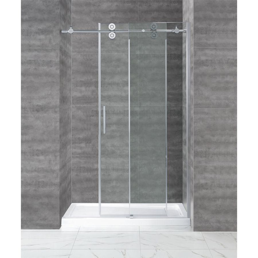 Shop Ove Decors Sydney 46 In To 48 In W X 78 7 In H Chrome Sliding Shower Door Glass Shower Doors Shower Sliding Glass Door Frameless Sliding Glass Shower Door