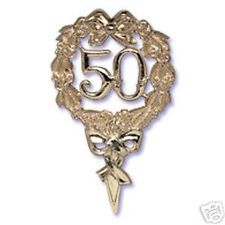 50th anniversary cupcake wrappers | 50TH ANNIVERSARY GOLD CAKE TOPPER OR PIC DECORATION