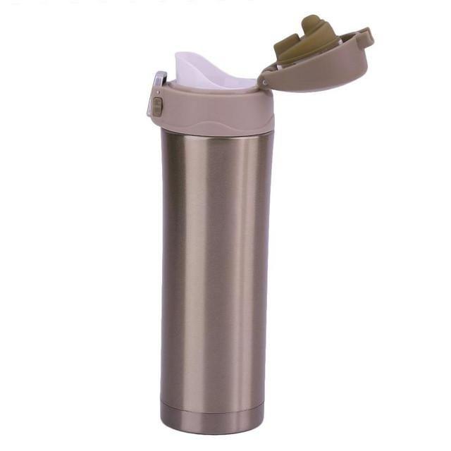 Stainless Steel Vacuum Flask Travel Coffee + Tea Mug 500ML