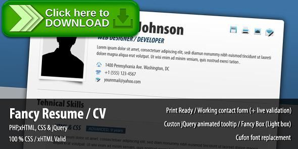 Free nulled Fancy Resume   CV download Resume cv - fancy resume