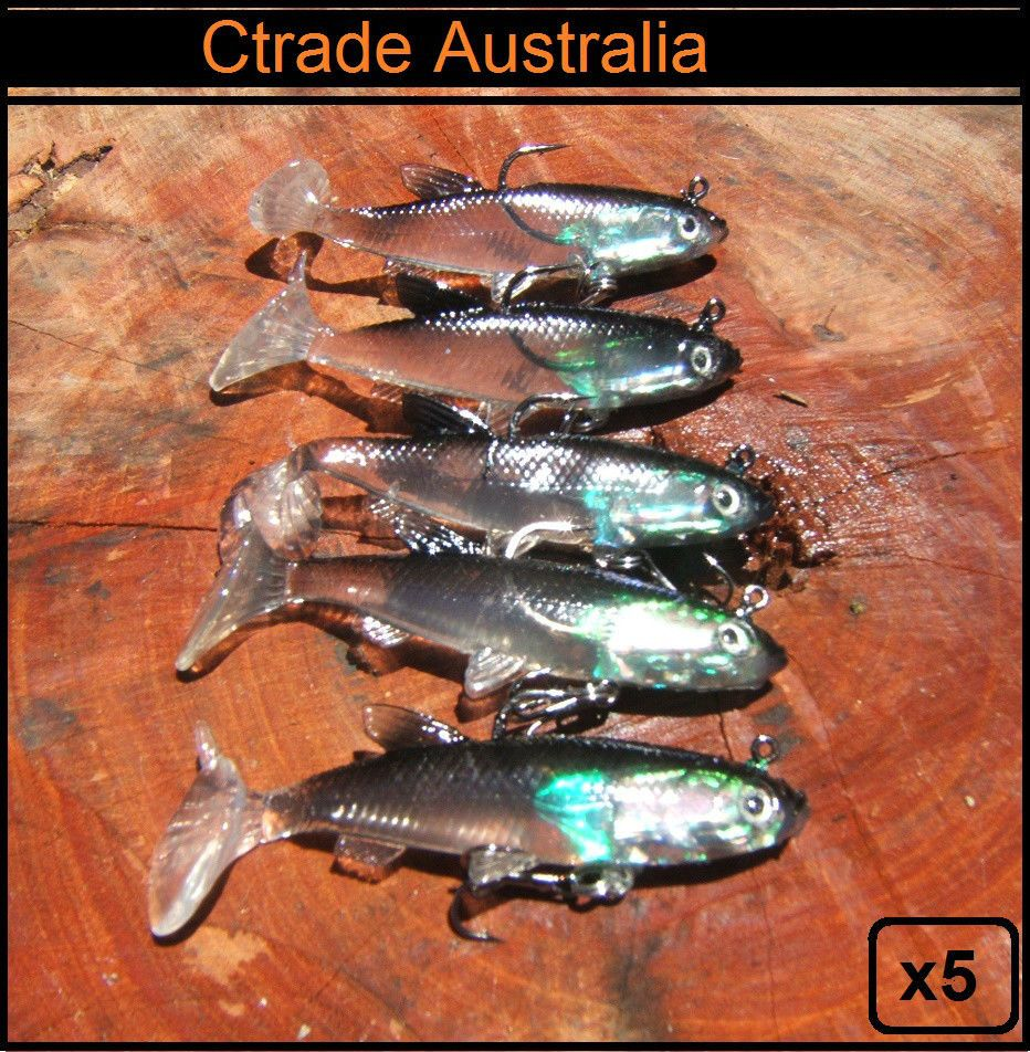 4X Fishing Lures Bream Whiting Flathead Bass Cod Trout 100mm Minnows Tackle