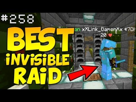 Minecraft MY BEST INVISIBLE RAID EVER!!   Minecraft FACTIONS #258