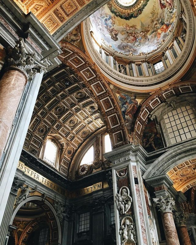 at Vatican City, Basilica Of St Peter St peters basilica