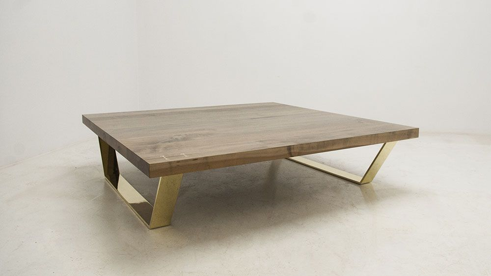 The 65 X 65 Is An Extra Large Custom Coffee Table. The Oxidized Maple ·  Coffee Table LegsBrass ...