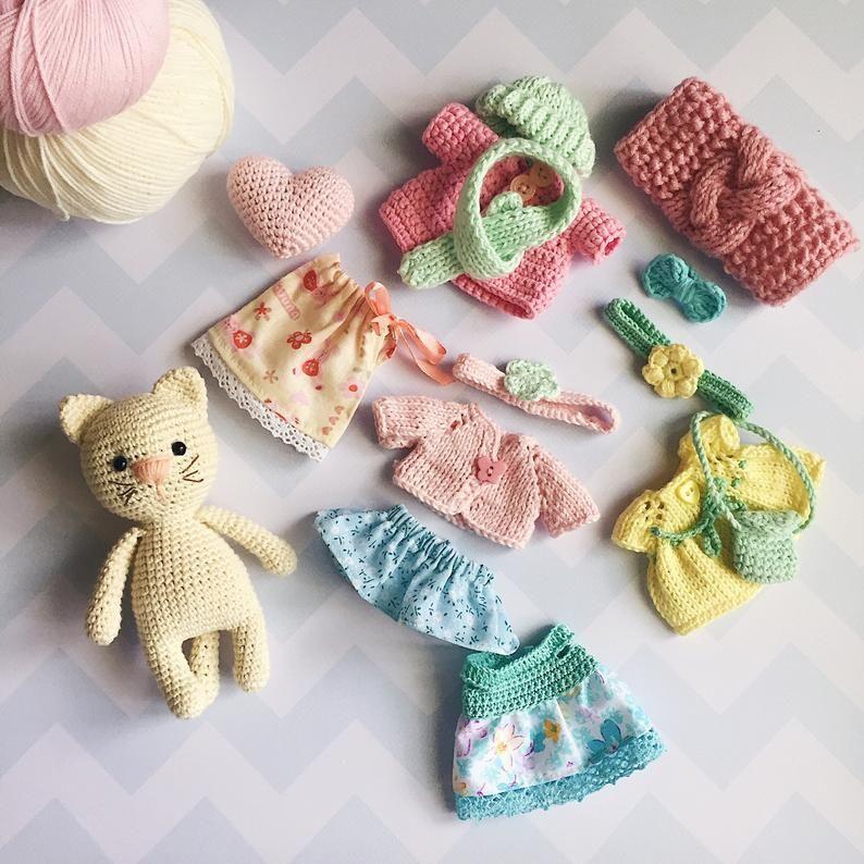 DIY Learn How to Crochet Kitty Kitten Cat Toy Amigurumi Stuffed Animal Pet  - YouTube | 794x794