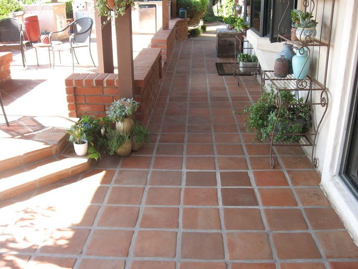 Terra Cotta Paver Cleaning Resealing Outdoor Patio In San Diego