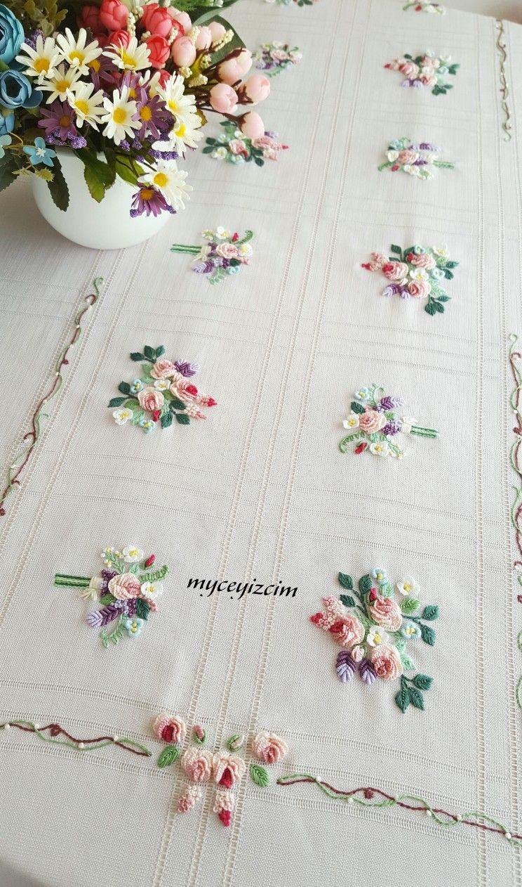 Pin de Ana Gomez en ropa de cama | Bordado, Patrones de bordado y ...