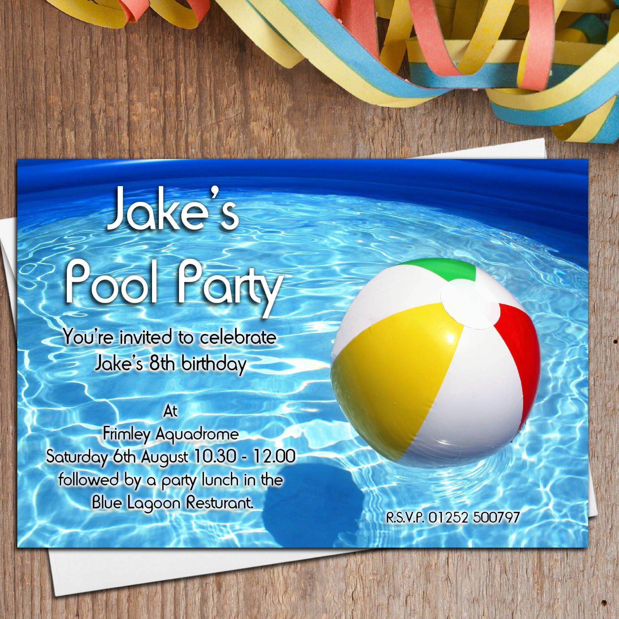 Kindergeburtstag Einladung Für Schwimmbad