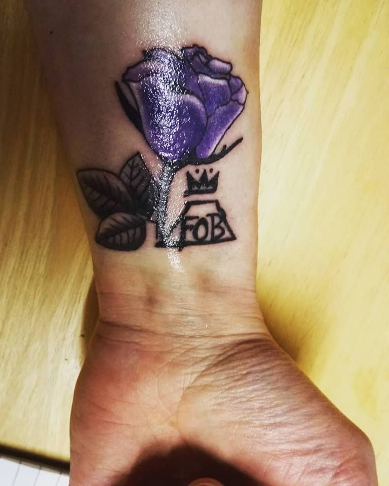 3 my gorgeous new fall out boy tattoo as designed and inked by the