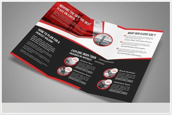 Tri Fold travel brochure template http\/\/textycafe\/travel - travel brochure