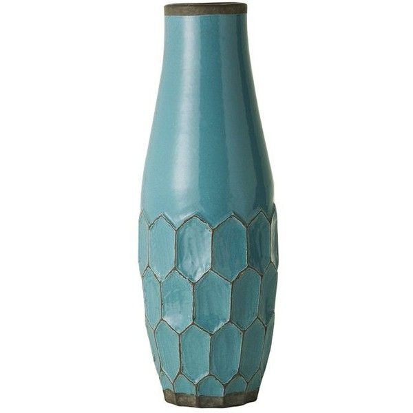 Hive Vases ($24) ❤ liked on Polyvore featuring home, home decor, vases, decor, fillers, backgrounds, terracotta vase, distressed home decor, terra cotta vase and honeycomb vase