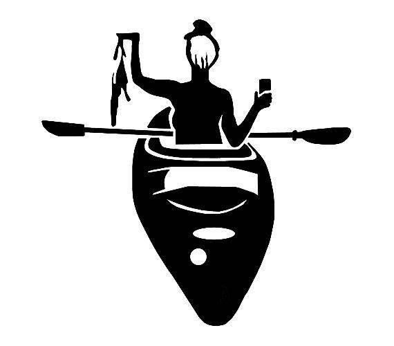 Kayaking,Yak Life,Paddling,Water,Lake,Boats,Rivers,Custom Decals,Vinyl Decal