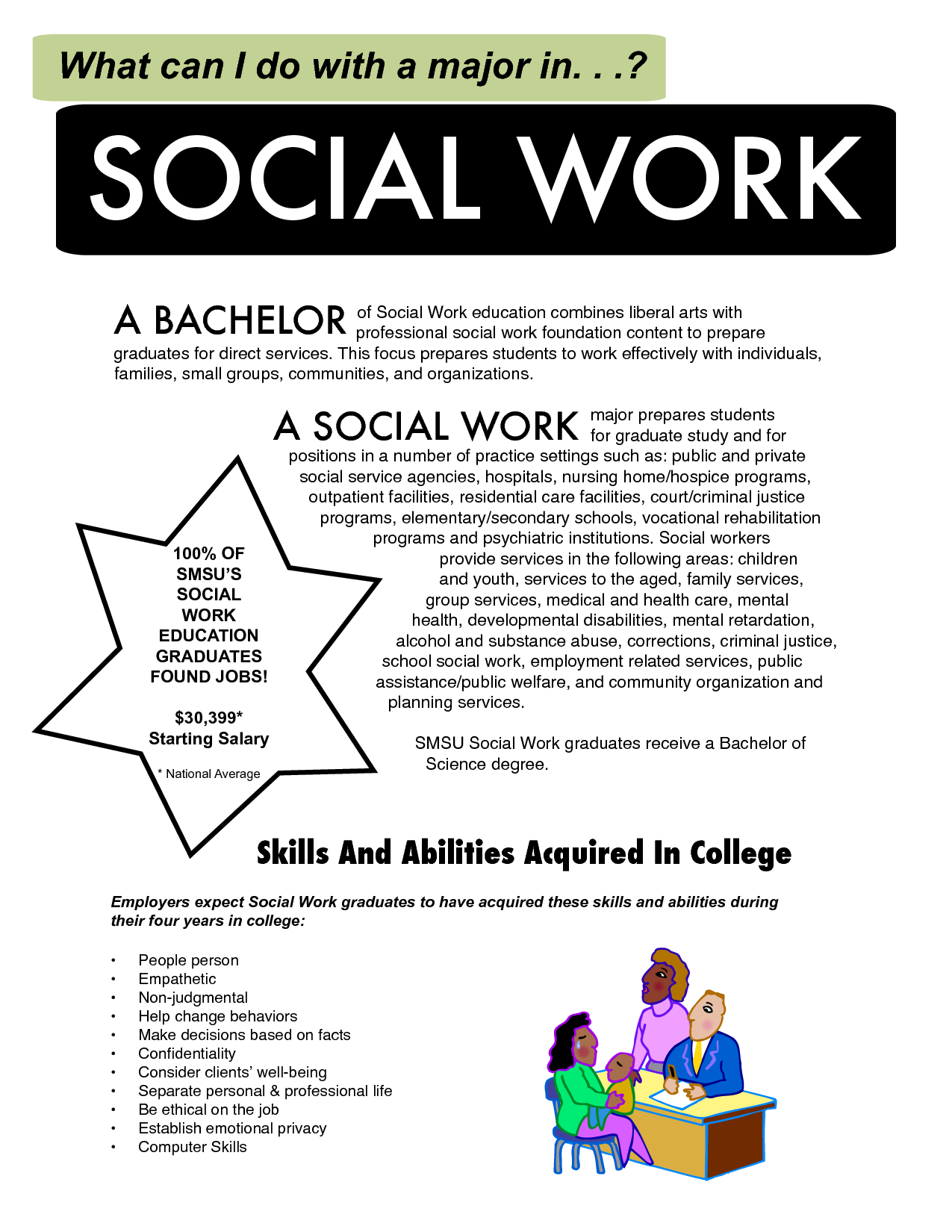 What A Social Worker Does Brochure Examples