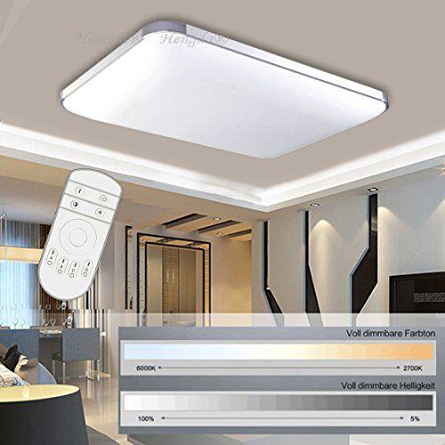 Hengda® 48W LED Deckenleuchte Deckenlampe Wohnzimmer bad https - deckenlampen wohnzimmer led