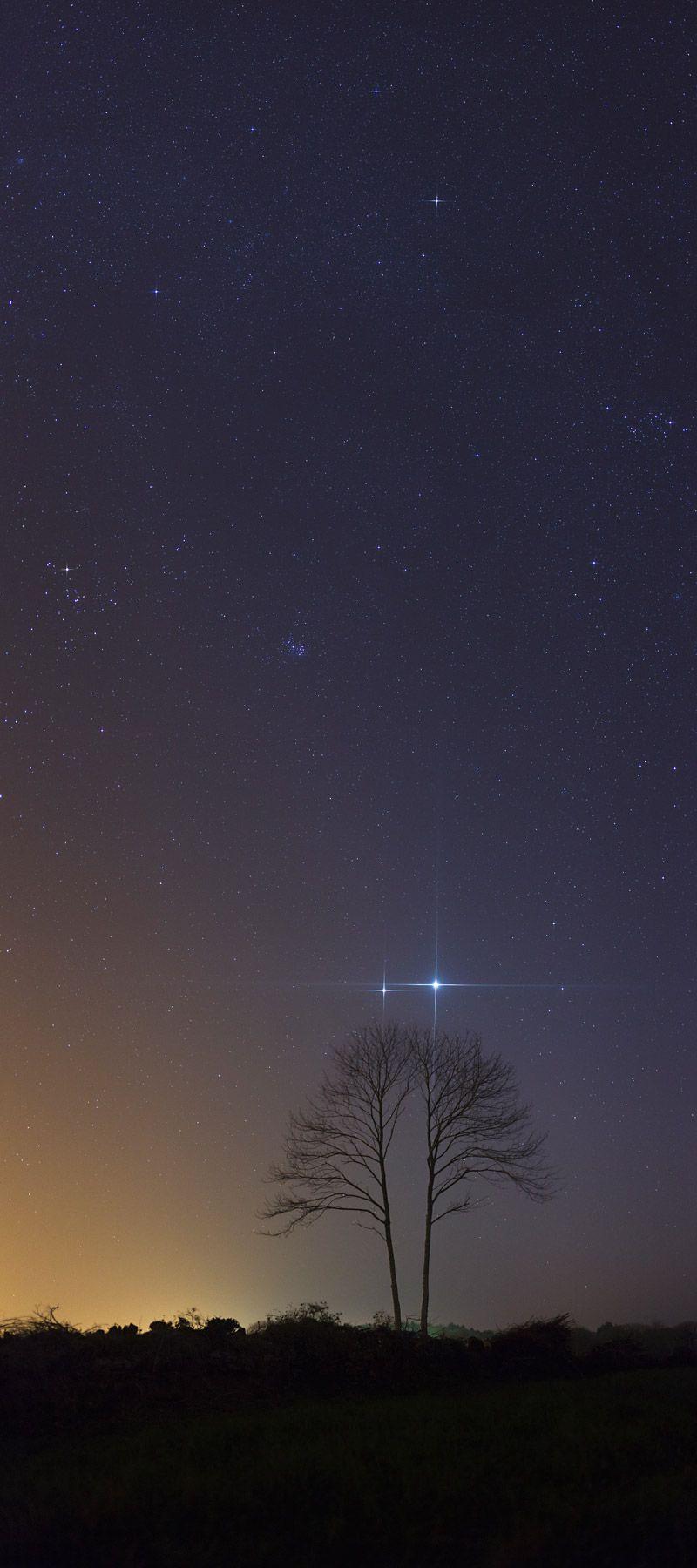 Jupiter and Venus, stunning photo.
