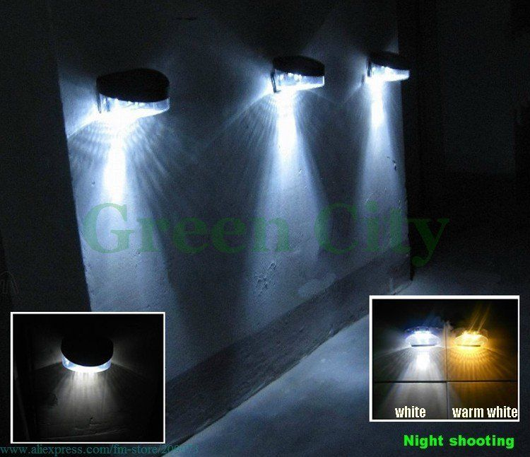 Delightful New Security,Wireless Solar Powered 2 LED Outdoor Lights Fence Wall Garden