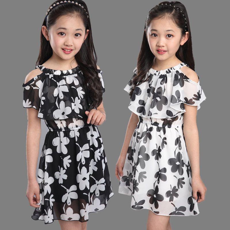 Girls Chiffon Dresses Children Summer