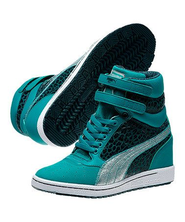 Take a look at this Bluegrass   Deep Teal Sky Metallic Wedge Sneaker - Women  by PUMA on  zulily today! f94eab175f