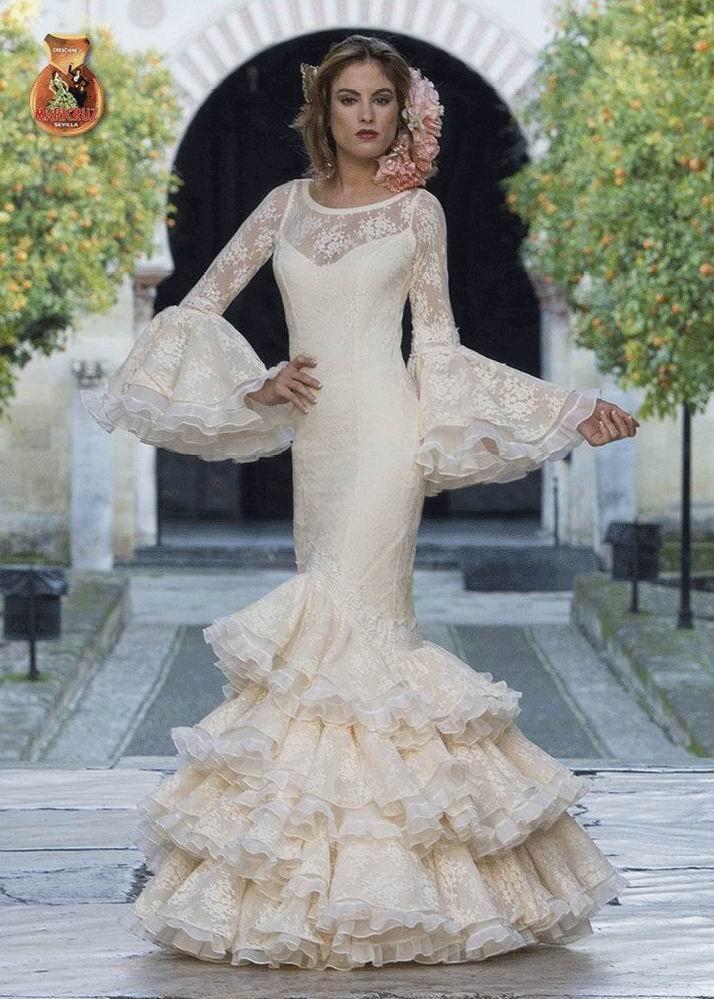 traje de flamenca. alba. 2017-2018 | bodas en 2019 | pinterest