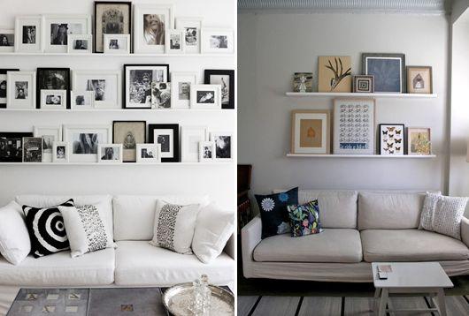 Você pode usar pinturas, fotos ou imagens semelhantes ou combinar vários estilos e tamanhos - Ademilar
