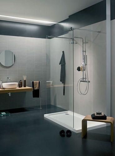 Piastrella per pavimenti in gres porcellanato per bagno: tinta unita ...