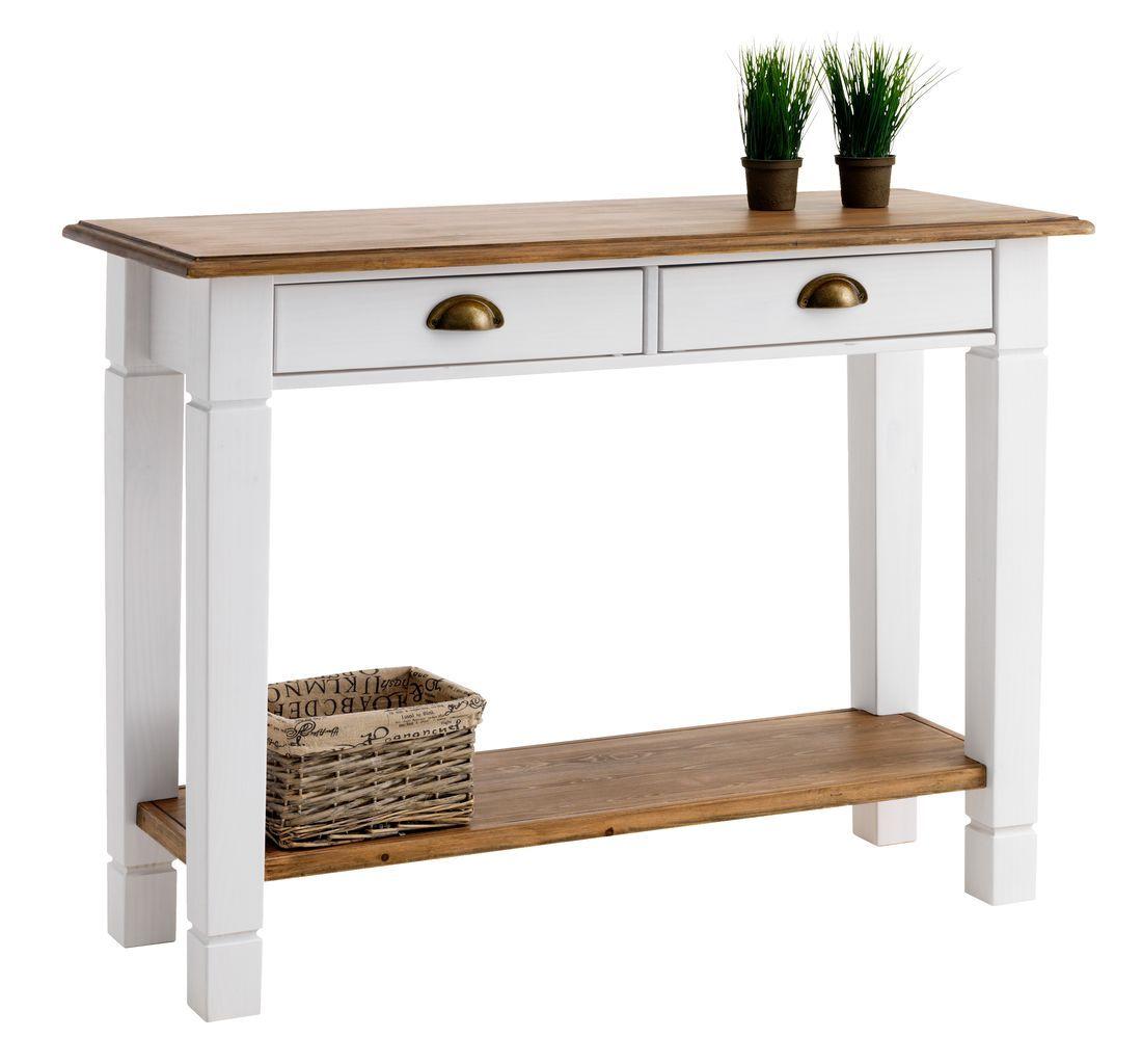 Konsolbord RYSLINGE 2 skuffer hvid brun JYSK Furniture Pinterest