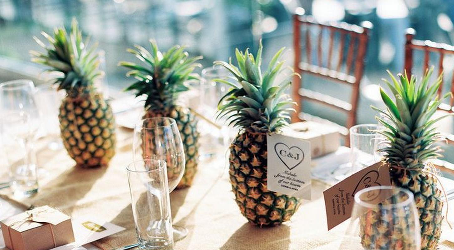 pull off a hawaiian luau wedding reception anywhere — with