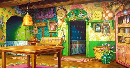 """The secret world of arrietty"" backgrounds, studio ghibli"