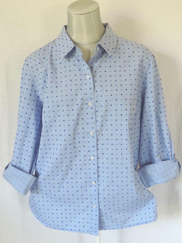 e3b74cae Tommy Hilfiger Women's Roll Tab Sleeve Cotton Printed Shirt Size: XL # TommyHilfiger #ButtonDownShirt