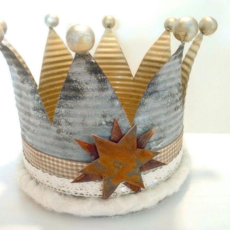 Bildergebnis für kronen basteln aus blechdosen | Krone basteln, Basteln mit dosen, Blechdosen basteln
