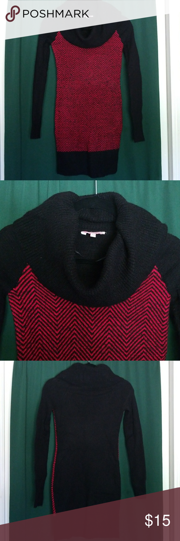 Black & Red Sweater Dress [Kohls] | Red sweater dress, Red ...