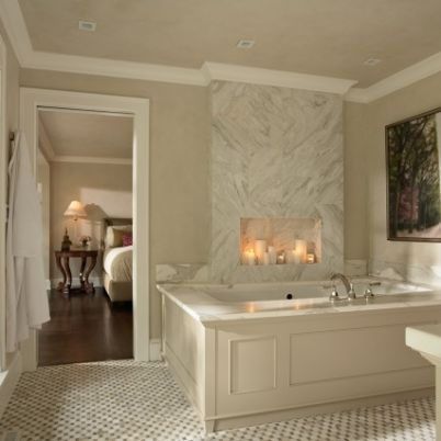 Indian Hills Master Bath Bedroom Classic Bathroom Bathroom Design Bathroom Fireplace
