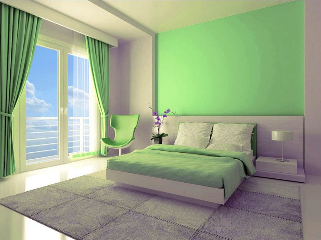 This Paint Color Is So Refreshing Green Looks So Good To The Eyes You Might Want To Consider A B Bedroom Wall Colors Green Bedroom Decor Modern Bedroom Decor