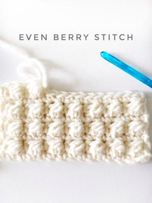 crochet even berry stitch | Crochet | Pinterest | Tejido, Ganchillo ...